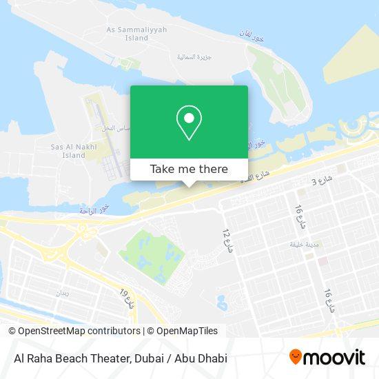Al Raha Beach Theater Karte