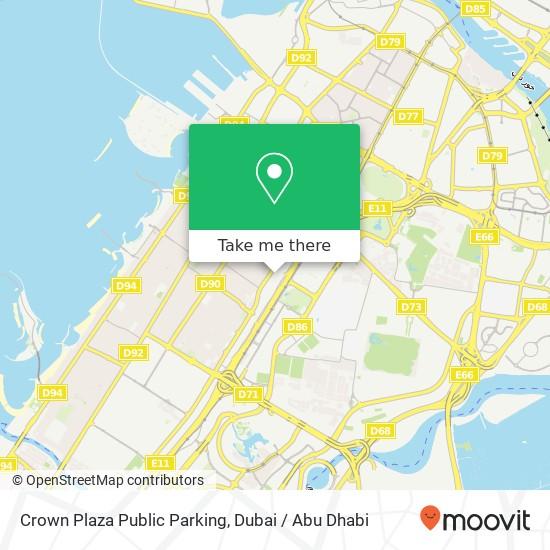 Crown Plaza Public Parking Karte