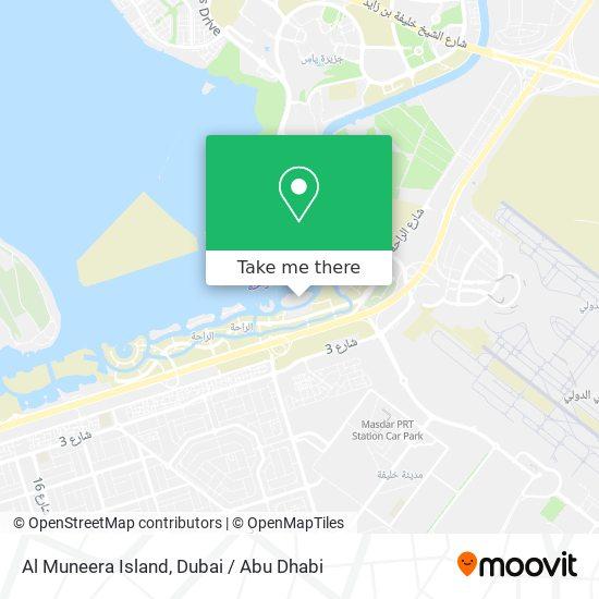 Карта Al Muneera Island