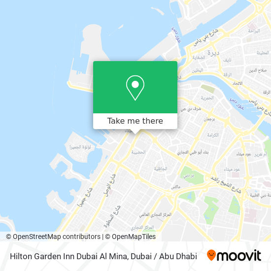 Hilton Garden Inn Dubai Al Mina Karte