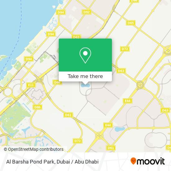 Al Barsha Pond Park plan
