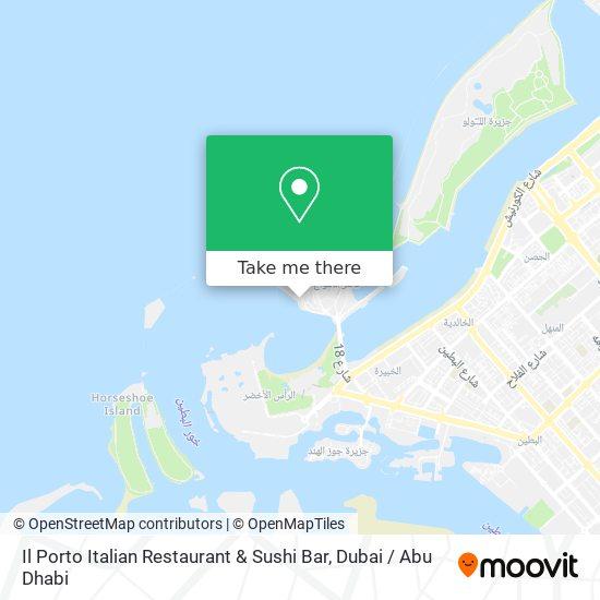 Il Porto Italian Restaurant & Sushi Bar plan