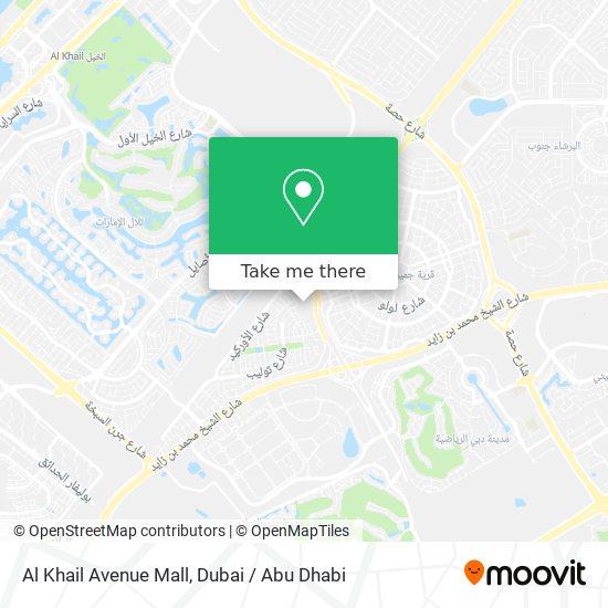 Al Khail Avenue Mall Karte