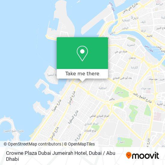 Ramada Jumeirah Hotel Karte