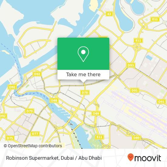 Robinson Supermarket map