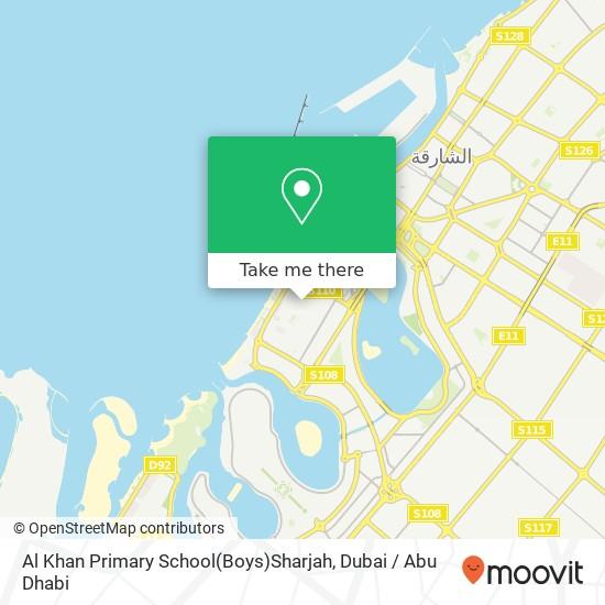 Al Khan Primary School(Boys)Sharjah plan