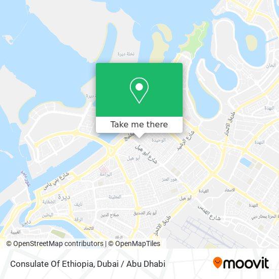 Карта Consulate Of Ethiopia