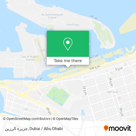 Al Razeen Island Karte