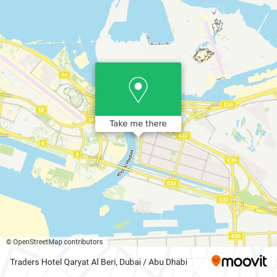 Карта Traders Hotel Qaryat Al Beri