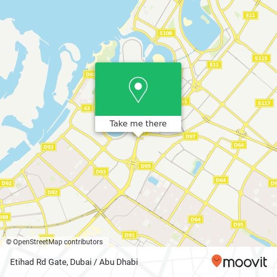 Карта Etihad Rd Gate