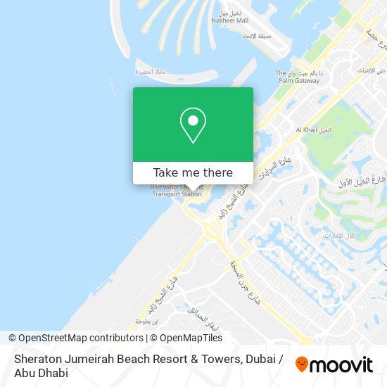 Карта Sheraton Jumeirah Beach Resort & Towers
