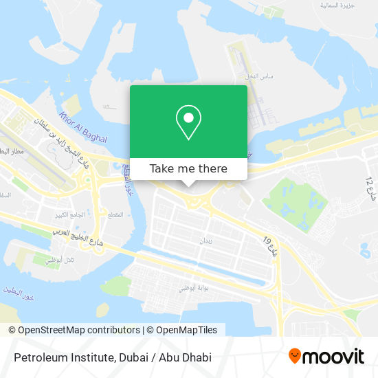 Карта Petroleum Institute