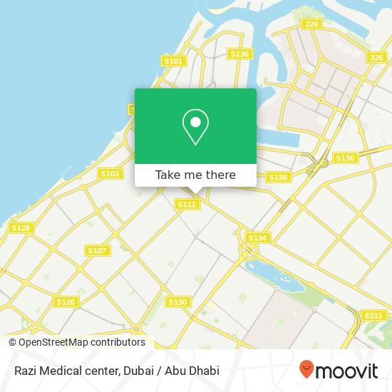Razi Medical center Karte