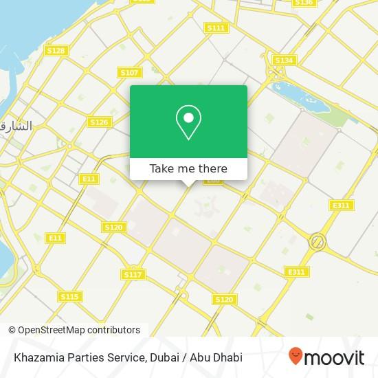 Khazamia Parties Service Karte