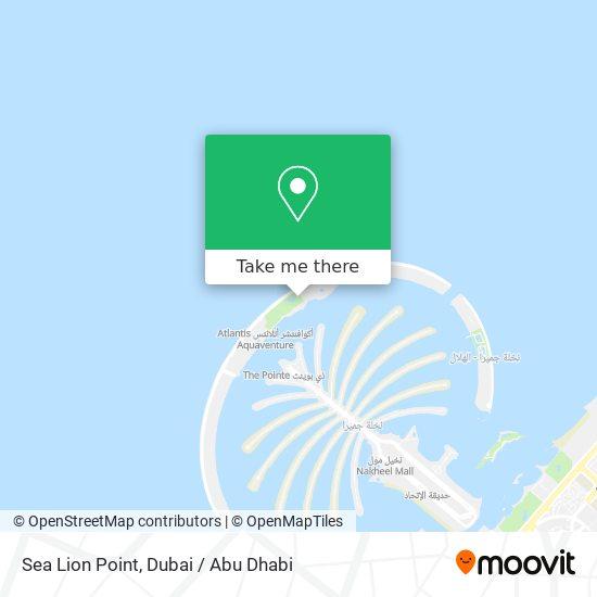 Sea Lion Point map