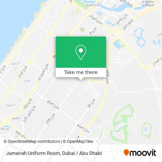Jumeirah Uniform Room map