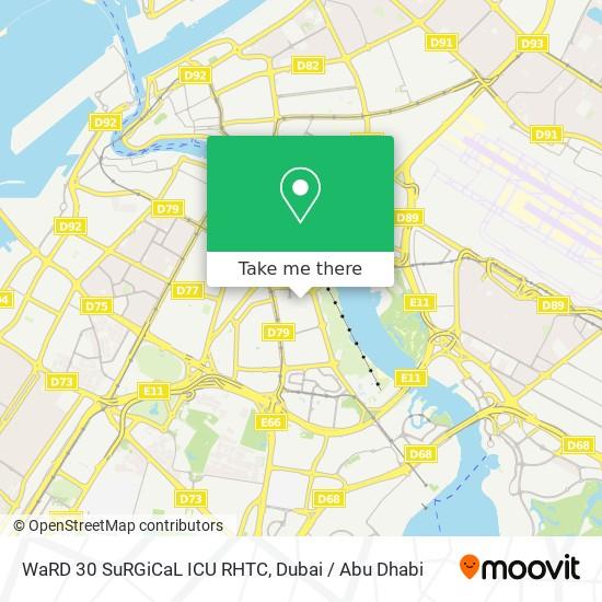 WaRD 30 SuRGiCaL ICU RHTC map