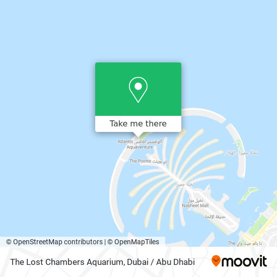 The Lost Chambers Aquarium map