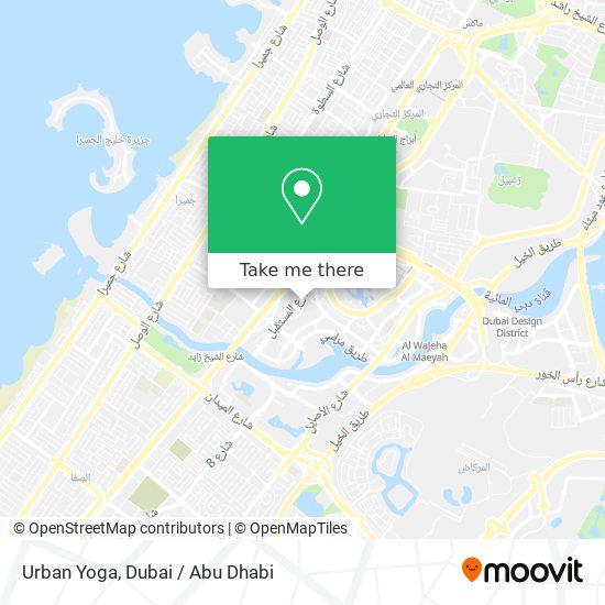 Urban Yoga map