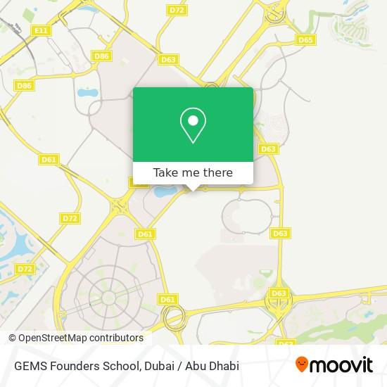 Карта GEMS Founders School
