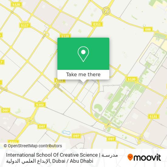International School Of Creative Science | مدرسـة الإبداع العلمي الدولية map