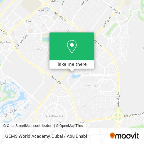 GEMS World Academy Karte