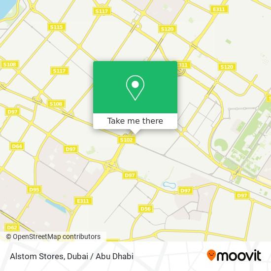 Alstom Stores Karte