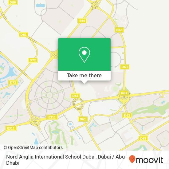 Карта Nord Anglia International School Dubai