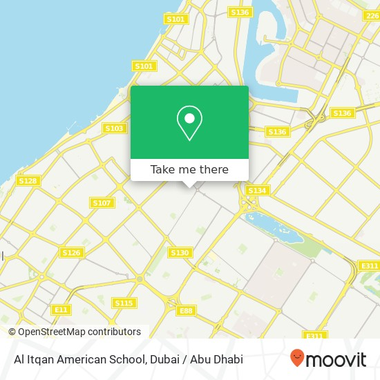 Al Itqan American School Karte