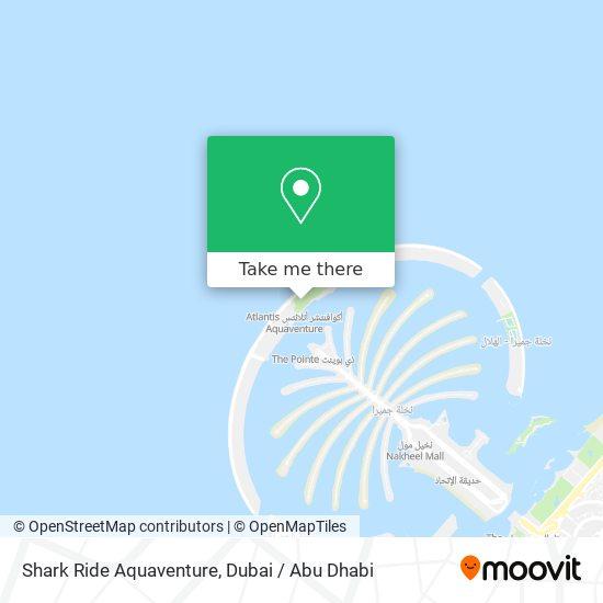 Shark Ride Aquaventure map