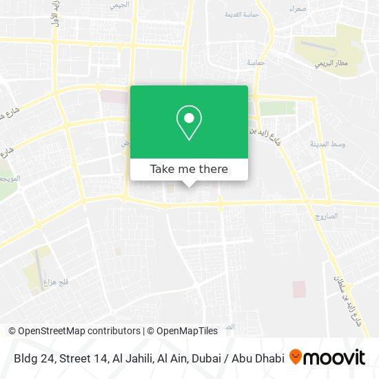 Bldg 24, Street 14, Al Jahili, Al Ain map