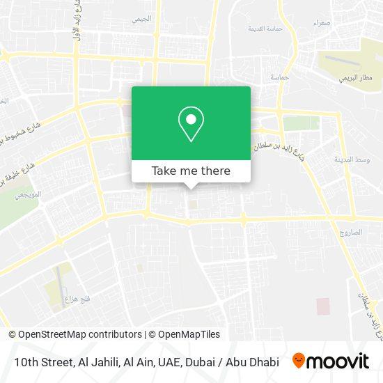 10th Street, Al Jahili, Al Ain, UAE map