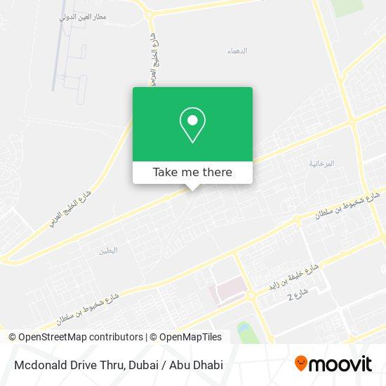 Mcdonald Drive Thru map