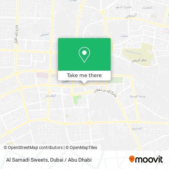 Al Samadi Sweets map