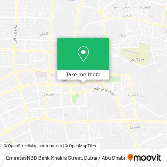 EmiratesNBD Bank Khalifa Street map