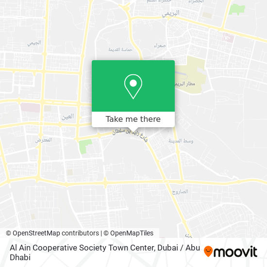 Al Ain Cooperative Society Town Center map