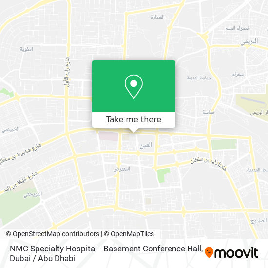 NMC Specialty Hospital - Basement Conference Hall map
