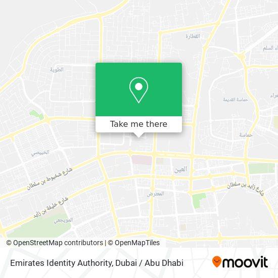 Emirates Identity Authority map