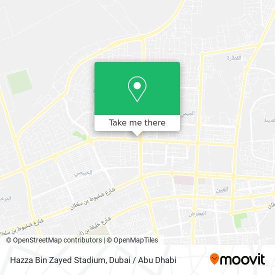 Hazza Bin Zayed Stadium map