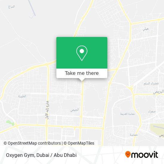 Oxygen Gym map