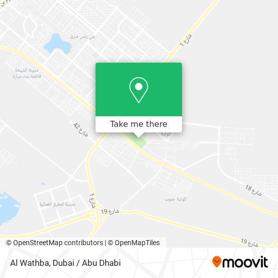 Al Wathba map