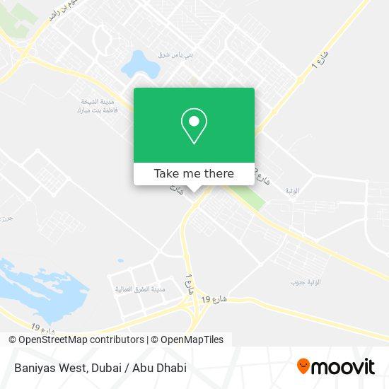 Baniyas West map