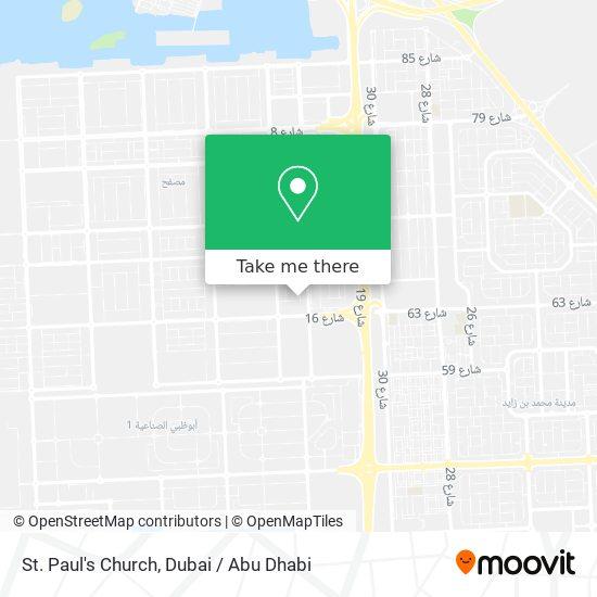 St. Paul's Church map