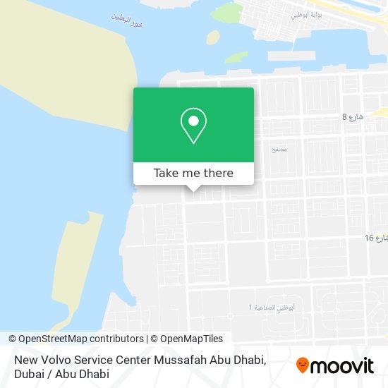 New Volvo Service Center Mussafah Abu Dhabi Karte