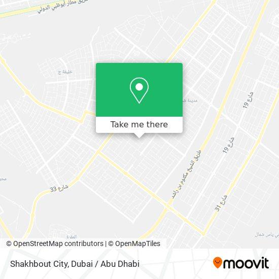 Shakhbout City map