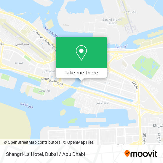 Shangri-La Hotel map