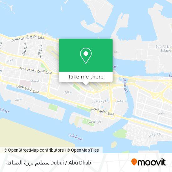 مطعم برزة الضيافة map