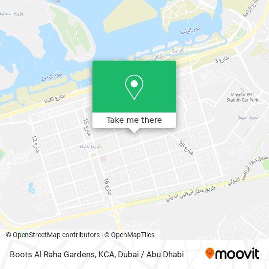 Boots Al Raha Gardens, KCA map
