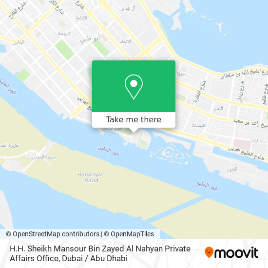 H.H. Sheikh Mansour Bin Zayed Al Nahyan Private Affairs Office map