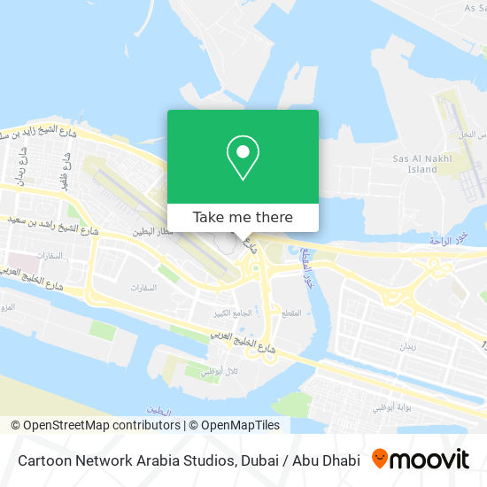 Cartoon Network Arabia Studios map